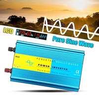 Solar Inverter 12V 220V 2000W Pe ak Pure Sine Wave car Inverter Voltage Transformer Converter 12V 110V 60Hz