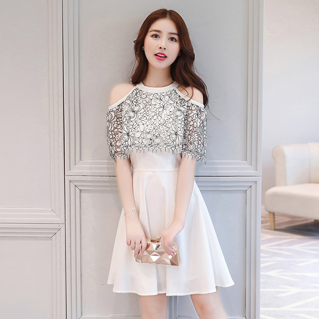 2bd04ad585f christmas clothes women 2017 office lady sexy lace turtleneck mini a line  dresses empire turtleneck