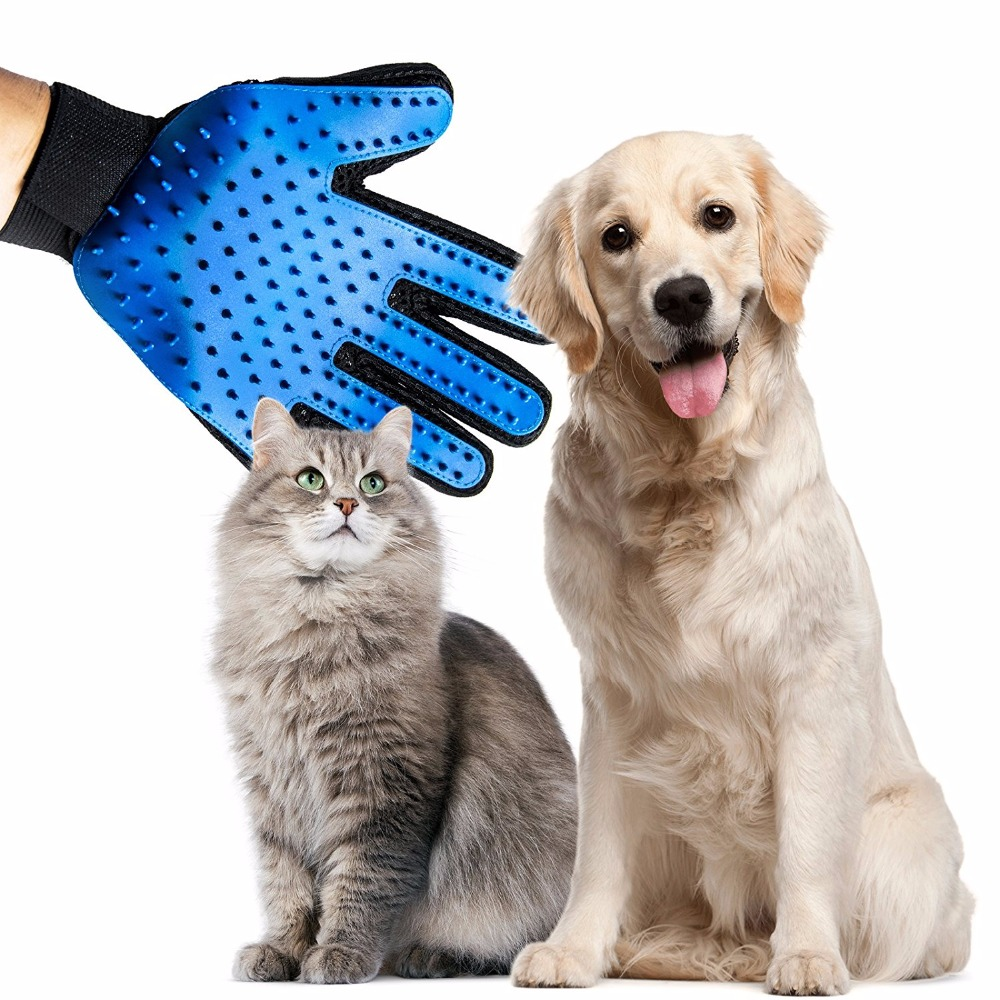 Silicone Pet Brush Glove Pet Grooming Hair Cleaning Massage Glove Pet Dog Supplies Cat Dog Hair Cleaning Brush Comb A01