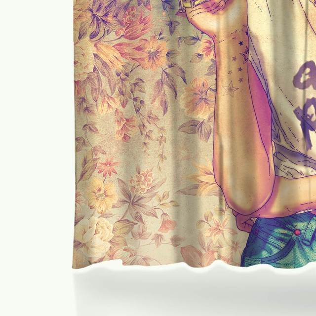 Miracille Frida Kahlo Printed Bath Shower Curtains With Waterproof Polyester Fabric Curtain For The Bathroom 12 Hooks 2size