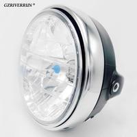 free shipping 7 Inch 35W Round Motorcycle Headlight H4 Bulb Head Lamp Universal for Honda CB400 VTEC VTR250 Hornet 250 600