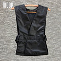 Black genuine leather vest 100% lambskin jacket women adjustable waist leather waistcoat coat chalecos mujer colete LT598