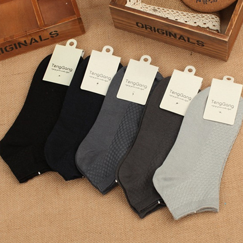 Permalink to Men's Bamboo Fiber Socks Black and White Solid Color Business  Mens crew socks Chaussettes A Funny Men's Socks