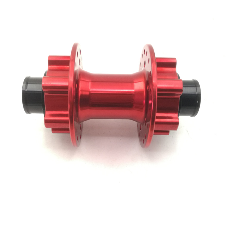 20mm Axle Diameter Bicycle Hubs Double Disk Brake In Double Side Mountain Bike Front Hubs With 32/36 Spoke Holes Black/Red Color 155 170 black red removable variable speed color cycle double v brake bicycle