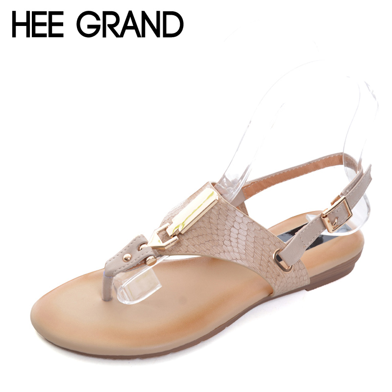 HEE GRAND 2017 New Gladiator Sandals Platform Flats Shoes Woman Summer Flip Flops Casual Slip On Women Shoes Size 35-41 XWZ3911 lanshulan wedges gladiator sandals 2017 summer peep toe platform slippers casual glitters shoes woman slip on flats creepers