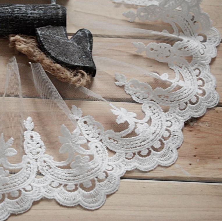 10 ярдів шириною 14см білою вишивкою - Мистецтво, ремесла та шиття - фото 2