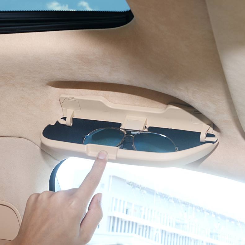 Car Interior Glasses Case Sunglass Storage Box For Porsche Cayenne 2011 2012 2013 2014 2015 2016 2017 Accessories