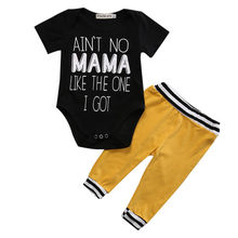 Cute 2pcs Newborn Baby Boy Tops Romper Pants Set Outfits Clothes Toddler Infant Boys Summer Clothing SET0-18M