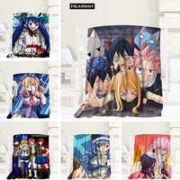 New Arrival Fairy Tail Anime Blankets 3D Printing Soft Blanket Throw On Home/Sofa/Bedding Portable Adult Travel Cover Blanket