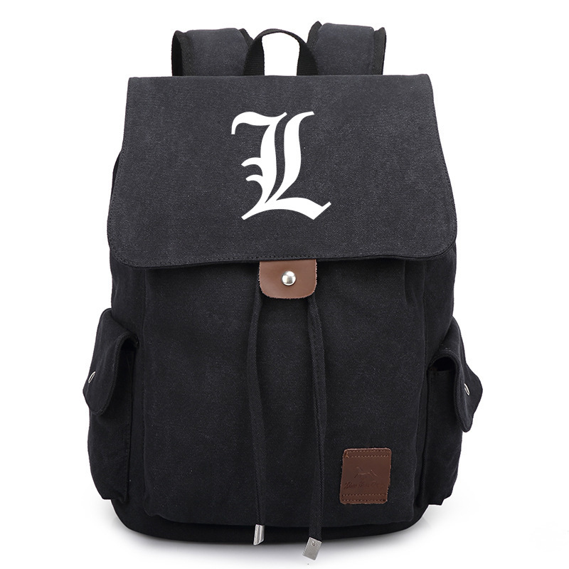 2017 New Death Note Backpack School Bags Canvas Unisex Cosplay Satchel  Rucksack Work Leisure Bag Shoulder Bags 5pack lovely fashion anime theme death note cosplay notebook new school large writing journal 20 5cm 14 5cm
