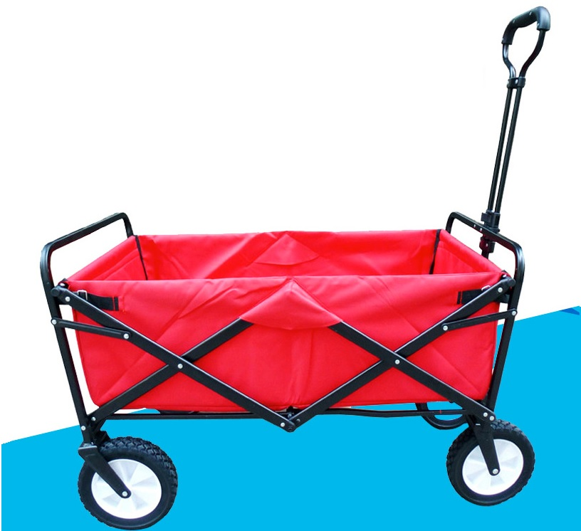 Folding 4 Wheel Wagon Trolley with Lining Foldable Collapsible Cart Sports Garden / May take >6 weeks for delivery цена