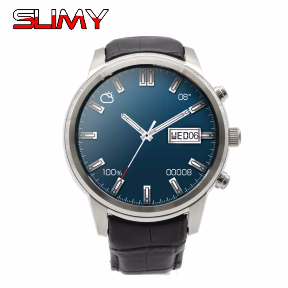Slimy X5 Plus SIM Smart Watch Android 5.1 OS 1GB+16GB WIFI 3G GPS Heart Rate Monitor Bluetooth MTK6580 Quad Core Smartwatch slimy k98h sim smart watch heart rate monitor smartwatch android 4 4 mtk6572a pedometer bracelet with 3g gps smartwatch stock