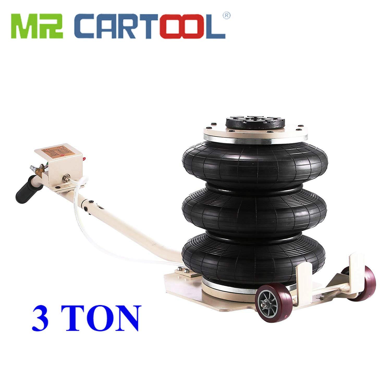 MR CARTOOL 3 Ton Car Triple Bag Airbag Jack Maximum 6600LBS Capacity Pneumatic Jacks