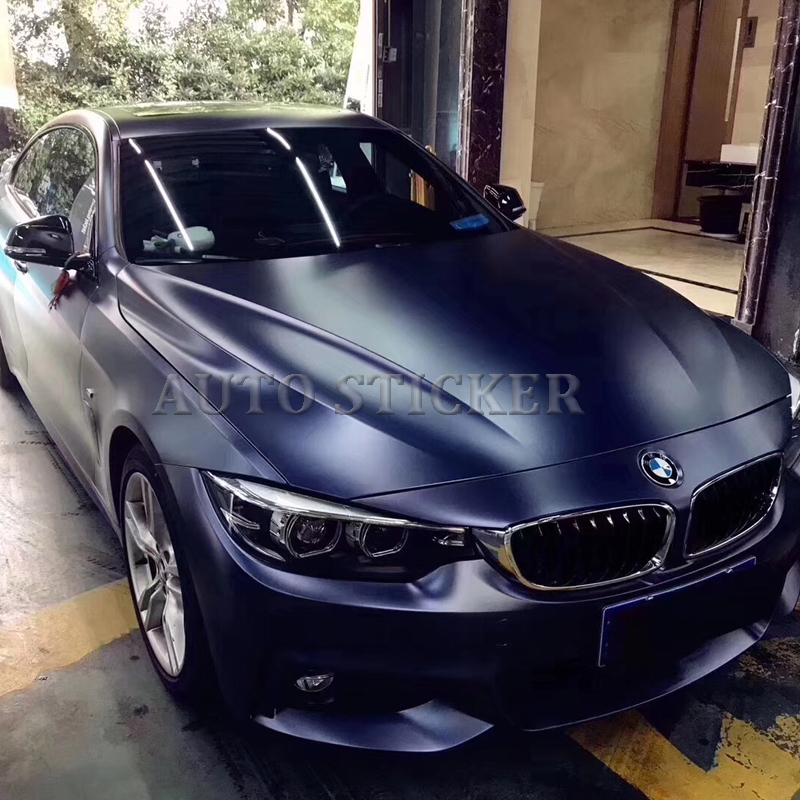 Luxury Pearl Metal Midnight Blue Metallic Satin Vinyl Wrap For Car Wrap Covering With Bubble Free Like 3M Quality Size:1.52*20M
