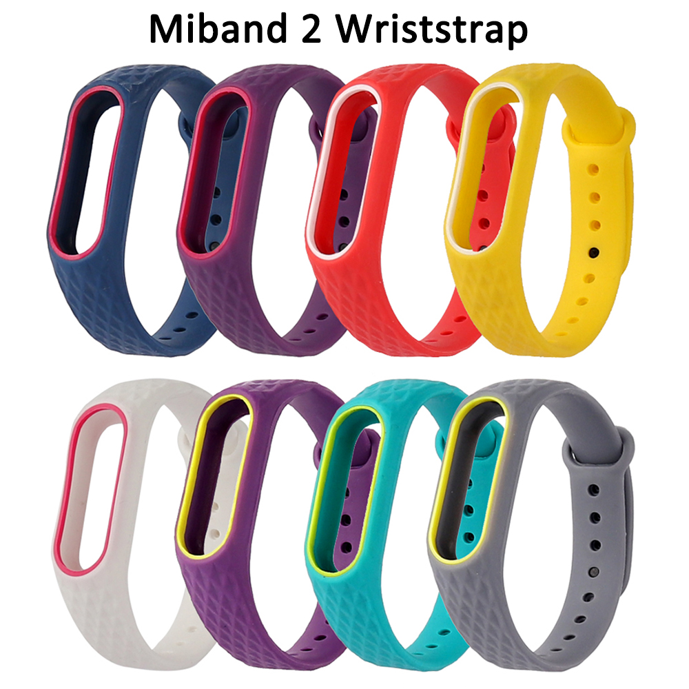 Double Color Replacement Mi Band 2 Strap Fitness Tracker Sport Band Wrist Accessories Wriststrap For Miband 2 Smart Bracelet