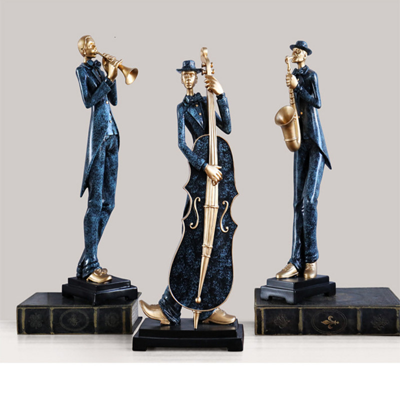 New Design Resin Crafts Home Decoration Accessories Modern Music Band Resin Statues Sculptures Europe Style Peolple