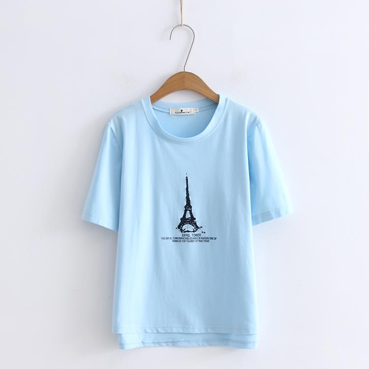 Drucken Tees Kurzarm T-shirt Frauen t-shirt Sommer Baumwolle t-shirt Frauen Tops Kausalen t-shirts