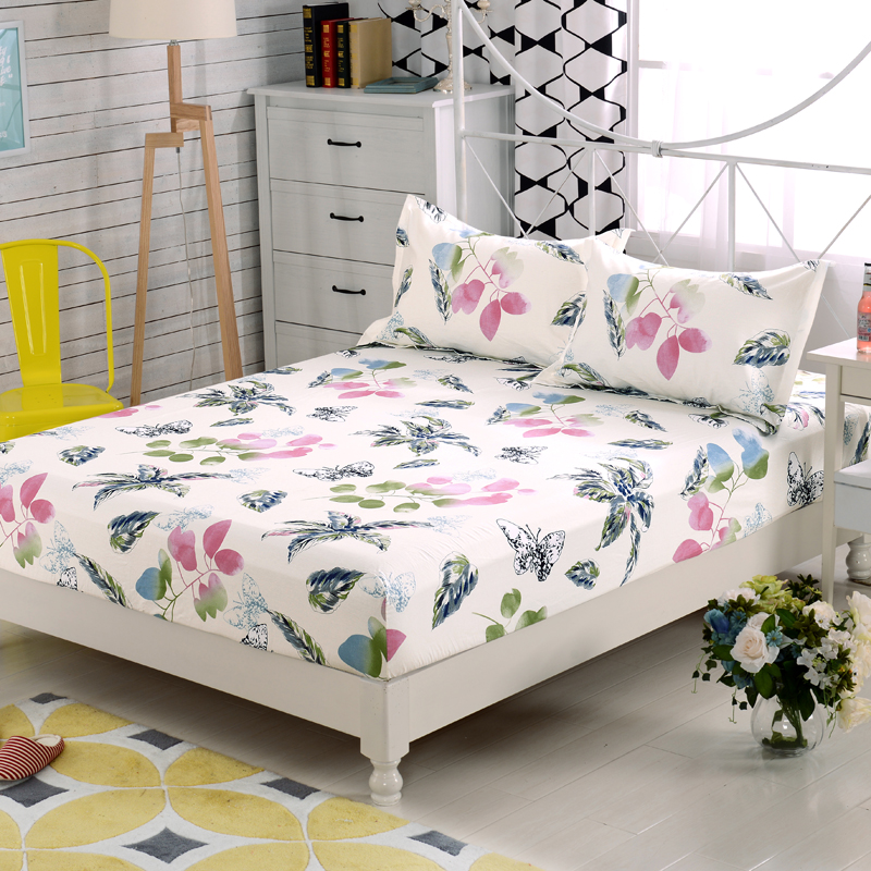 Sunnyrain 3 Pieces 100 Cotton Printed Ed Bed Sheet Set Queen King Size Bedding