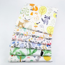 6pcs/lot 50x40cm New Cartoon  Fabric Printed Cotton Patchwork Cloth for DIY Sewing Quilting Fat Quarters Material For Kids