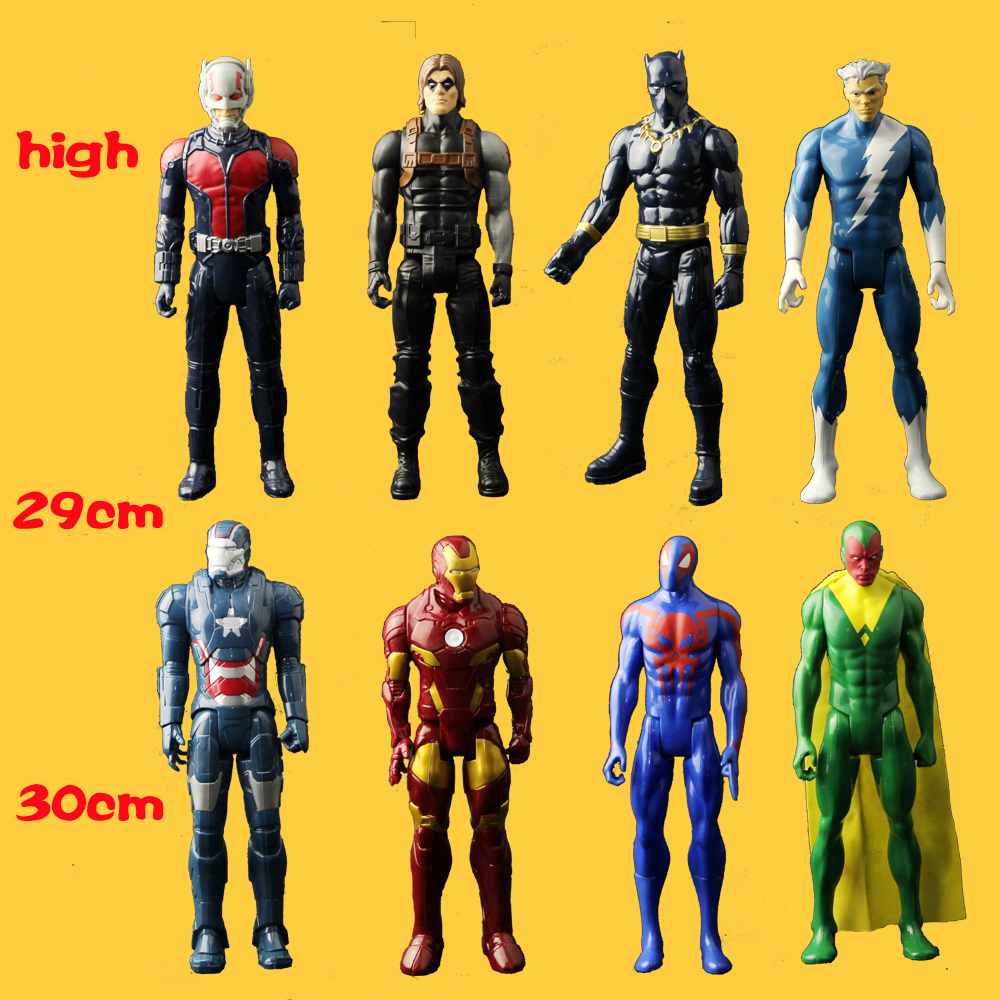 NO Box) An Amazing Vision Captain Cold Iron Man Black Widow Ant-Man Black Panther 30CM Ultra Action Figure Toys simulation model marvel legends avengers civil war captain america iron man black widow black panther scarlet witch ant man pvc action figure toy