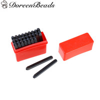 DoreenBeads 2mm Carbon Steel Alphabet Letter A Z Punch Metal Stamping Tools Rectangle Black 5