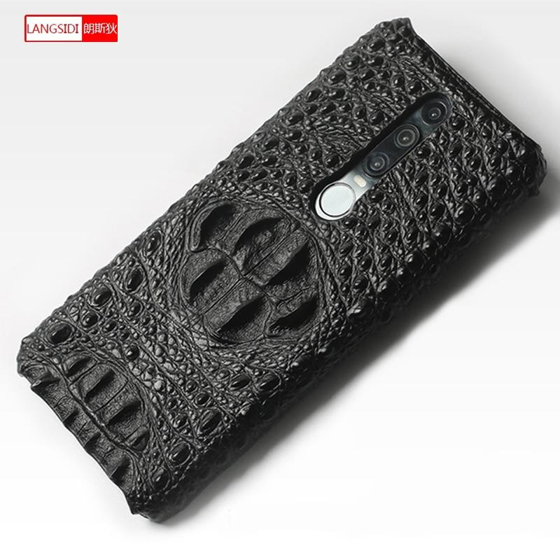 For Nova 3 Genuine Leathe Crocodile pattern phone case for Huawei Nova 3 Mate Honor 10 P10 Plus P20 Pro Durable protective cover