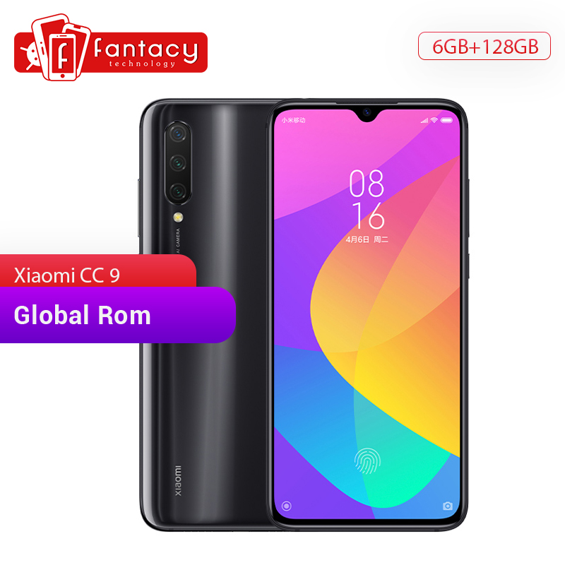"Global Rom Xiaomi Mi CC9 CC 9 6GB RAM 128GB ROM Mobile Phone Snapdragon 710 48MP Triple Camera 32MP Front Camera 6.39""AMOLED"