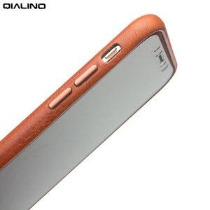 Image 2 - QIALINO Da Thật Chính Hãng Da Ốp Lưng điện thoại Apple cho iPhone X Phong Cách Doanh Nhân Sang Trọng Siêu Mỏng trong cho iPhone XS cho 5.8 inch