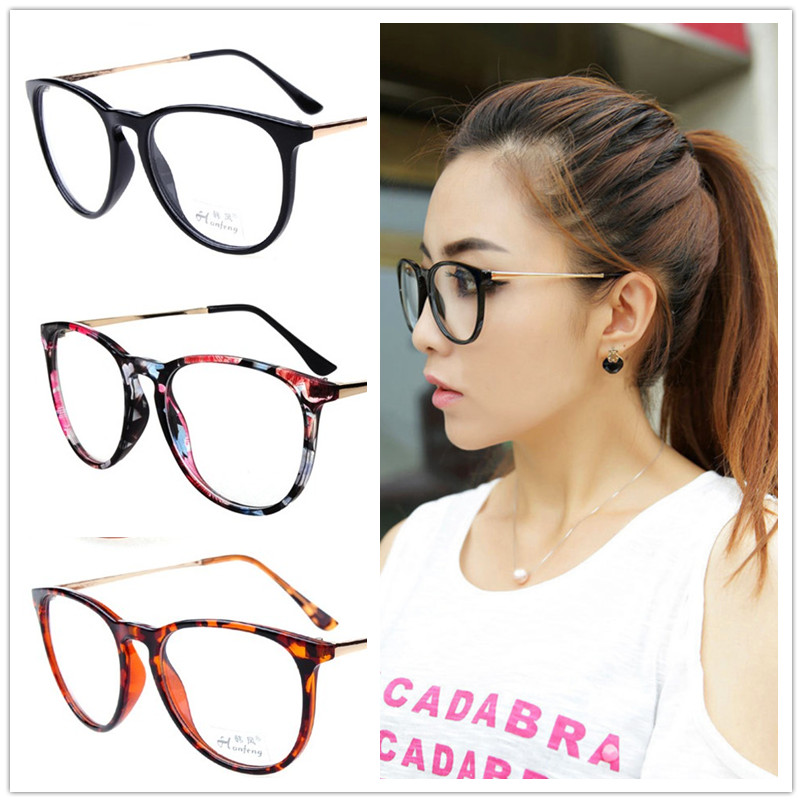 Retro round eyes glasses frame men women vintage myopia eyeglasses frame plain glasses oculos de grau femininos