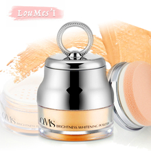 Loumesi loose powder Face Powder oil control cosmetics Brighten Face Powder Make up mineralize skinfinish cover