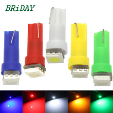 20Pcs T5 5050 1SMD Led Bulbs For Wedge Dashboard Gauge Light 70 73 74 2721 17 White Red Blue Green Yellow Light Interior Bulb