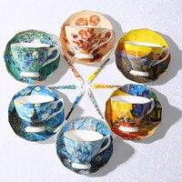 Tazas de café con pintura de Arte de Van Gogh  la noche estrellada  girasoles  el cortacésped  tazas de té de café Irises Saint-Remy