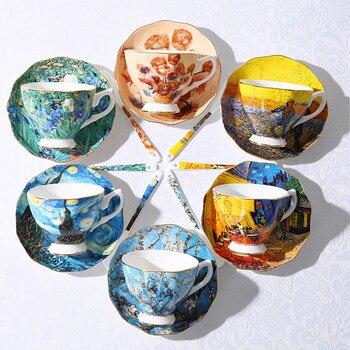 Van Gogh Pittura di Arte Tazze Da Caffè La Notte Stellata, girasoli, il Seminatore, iris Saint-Remy Caffè tea cups