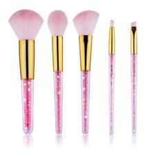 Makeup-Brushes-Set Foundation Unicorn Blending Crystal New Pink White Diamond Maquillaje