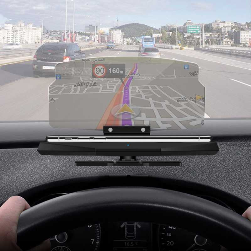 Navigation Display Phone Smartphone Holder Mount GPS Projector Reflection Board Panel Car Bracket HUD Head Up