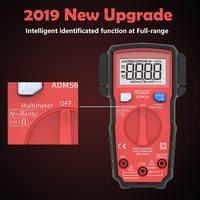 Mini Digital Multimeter ESR Meter 6000 Counts LCD True RMS DC/AC Voltage Current Meter with V alert Test Probes For Multimeter