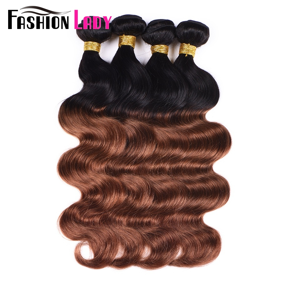 Fashion Lady Pre Colored 100% Human Hair Weave 4 Bundles ...