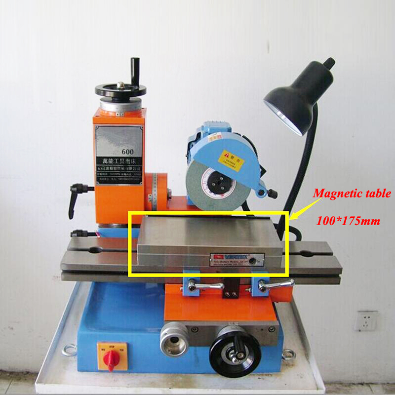 Magnetic Table Universal Grinding Machine Electric Polishing Machine DIY Manual Table Grinder Multi-functional Woodworking Tools