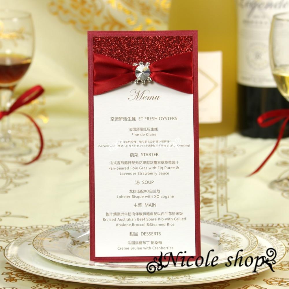 Blank Menu Cards Wedding Reception Wedding Invitation Ideas