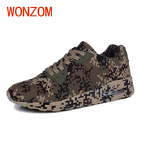 WONZOM New Unisex Casual Shoes Fashion Camouflage Men Shoes Breathable Comfortable Footwear Adult Shoes Gift Size