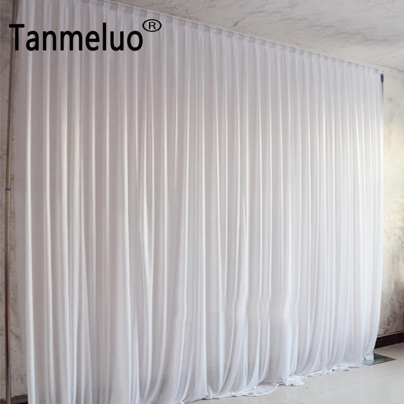 4x4 M pannelli appeso partito sfondo tende tende in tessuto di seta del Ghiaccio decorazione di cerimonia nuziale drape eventi sfondo di panno per fase-in Sfondi per party da Casa e giardino su  Gruppo 1