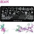 10 unids/lote BQAN Envío Gratis Nail Art Stamping Kit DIY Nail Art Estampados Máquina de Impresión