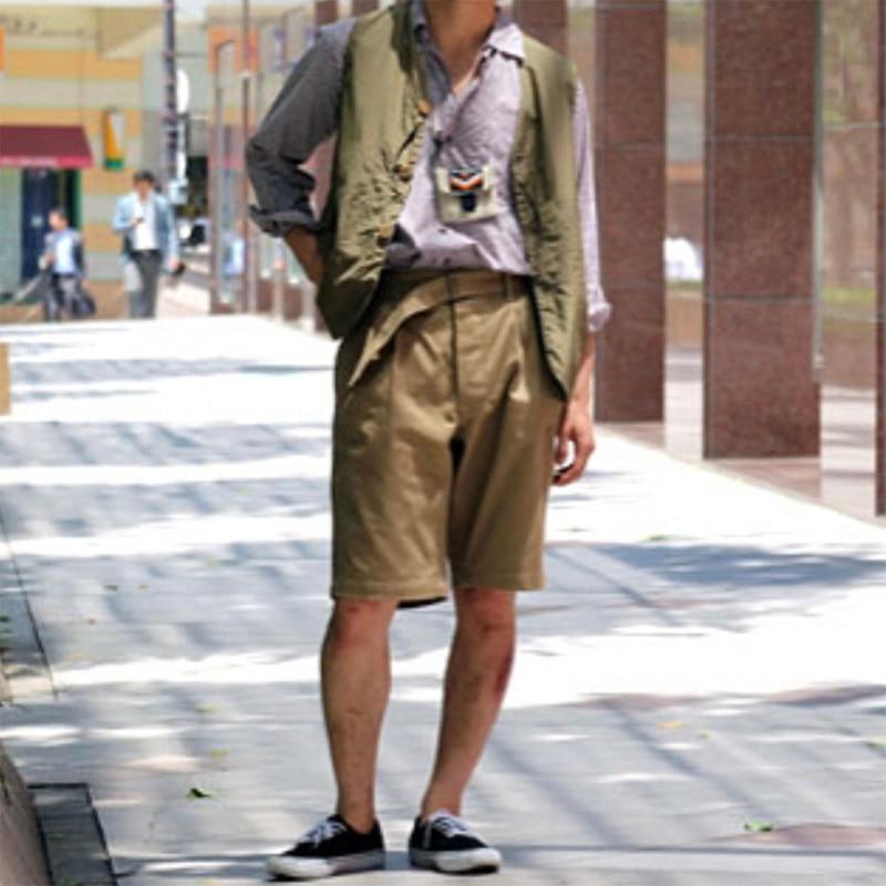 Vintage Army Khaki Gurkha Shorts Mens Chino Militare Bermuda Short di Estate pieghettato allentato casuale maschio esercito Shorts-in Casual shorts da Abbigliamento da uomo su  Gruppo 3