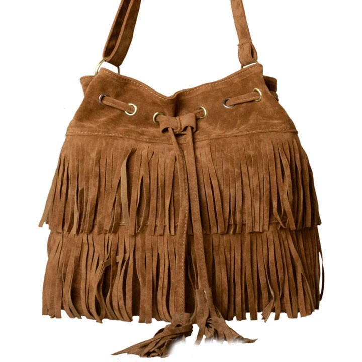 Bolsos 2015 Faux Suede Fringe Tassel Women Shoulder Bag Messenger ... 23897ee4fd940