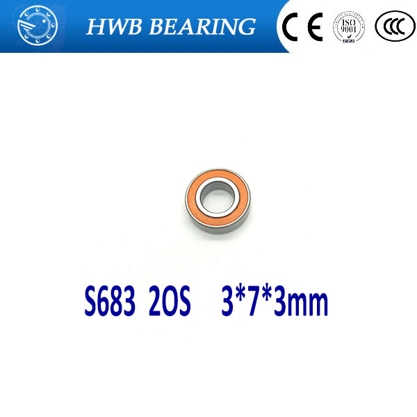 1PC 3X7X3mm  SS683 2OS  S683-2OS CB ABEC7  Stainless Steel Hybrid Ceramic Bearings/Fishing Reel Bearings 2pcs 7x13x4mm smr137 2os cb abec7 stainless steel hybrid ceramic bearings fishing reel bearings smr137c 2os smr137 2rs