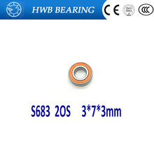 Chinese Singles Day 1PC 3X7X3mm SS683 2OS S683-2OS CB ABEC7 Stainless Steel Hybrid Ceramic Bearings/Fishing Reel Bearings