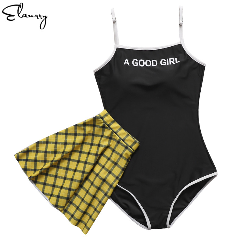 Women Swimsuit Sexy Summer Beach Wear Two Pieces Girl Bathing Suit Vintage Monokini With Skirt 2018 Mujer Swimwear PaddedWomen Swimsuit Sexy Summer Beach Wear Two Pieces Girl Bathing Suit Vintage Monokini With Skirt 2018 Mujer Swimwear Padded