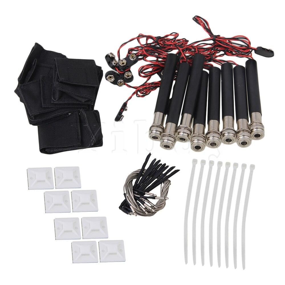 Yibuy 10 pcs Active Endpin Jack Preamp Piezo Ramassage Kits pour Guitare Acoustique