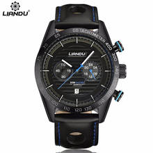 relogio masculino LIANDU Watch Men Military Quartz Watch Mens Watches Top Brand Luxury Leather Sports Wristwatch Calendar Clock цена и фото
