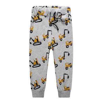 Zimowe bawełniane samochodziki w stylu kreskówki drukuj śliczne spodnie dla chłopców ubrania dla dzieci dla dzieci chłopców spodnie dla chłopców dzieci ciepłe spodnie dresowe tanie i dobre opinie NOVATX Poliester COTTON Proste Chłopcy PATTERN Kieszenie Myte Pełnej długości Pasuje prawda na wymiar weź swój normalny rozmiar